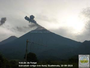 Actividad en el volcán de Fuego