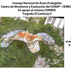 Antes y después de deslizamiento en ElCambray