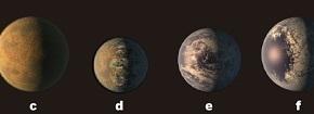 Hallan sistema solar con 7 planetas del tamaño de latierra