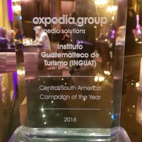 INGUAT recibe Galardón 2018 a la campaña del año por ExpediaGroup