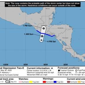Depresión Tropical 2-E