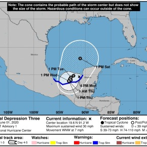 Nueva Depresión Tropical, ahora en el Golfo deMéxico