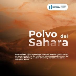 Recomendaciones por el ingreso de polvo delSahara