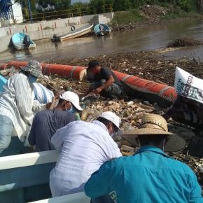 MARN recoge 20 toneladas de desechos del RíoMotagua