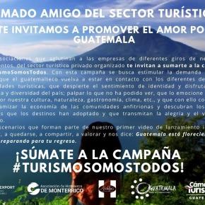 Campaña para reactivación del turismo enGuatemala