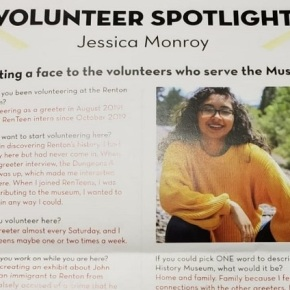 Jessica Monroy desde el Museo de Historia deRenton