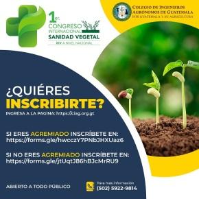 Abren inscripciones para el 1er. Congreso Internacional de Sanidad Vegetal y XIV a nivelnacional