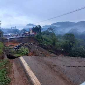 Colapsa carretera en ruta de las Verapaces porlluvia