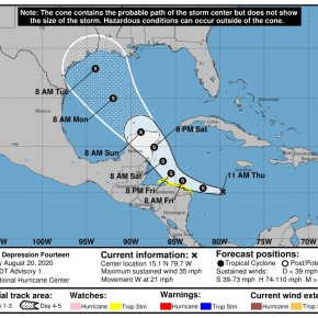 Aumento de lluvia por Depresión Tropical14