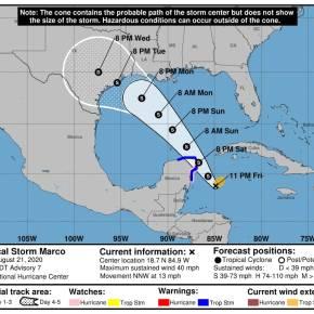 Lluvias incrementarán por Tormenta TropicalMarco