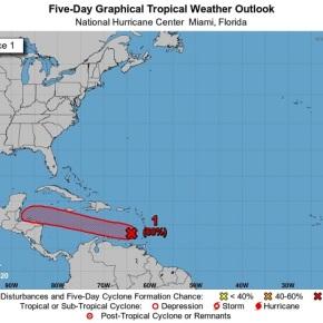 Pronostican lluvia por Depresión tropical a mediasemana
