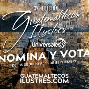 El 15 de septiembre cierran las votaciones de GuatemaltecosIlustres