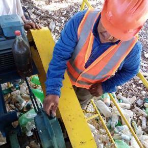 Biobarda para control de desechos en elMotagua