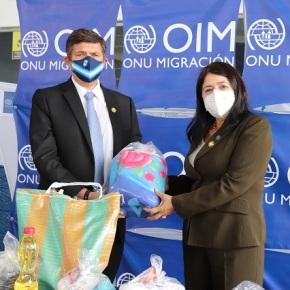 ONU hace donación, para proteger de la COVID-19 a migrantesretornados