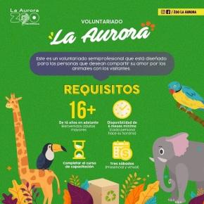 El Zoo La Aurora convoca avoluntarios