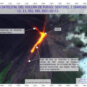 Incremento de actividad efusiva del Volcán deFuego