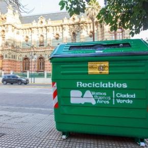 La Ciudad de Buenos Aires suma más contenedoresverdes