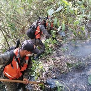 23 entidades trabajaron para liquidar el incendio en el VolcánAtitlán
