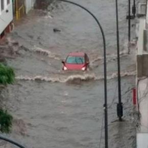 Alerta por inundaciones en Córdova,Argentina