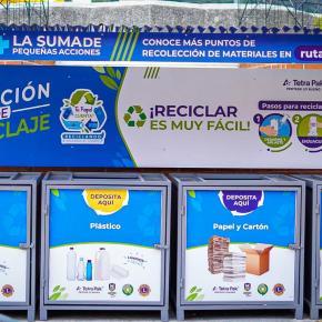 Habilitan Centro de Reciclaje en el parque central de Santa CatarinaPinula