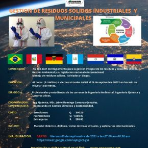 Participa en el VI Expocurso Internacional 2021, sobre gestión deresiduos